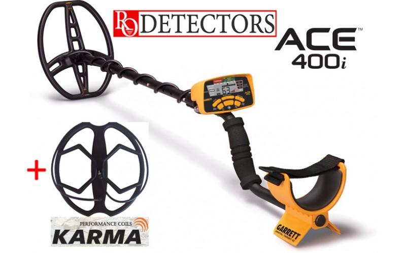 Garrett Ace 400i + Sonda Karma + 5 cadouri cu transport gratuit si garantie 3 ani