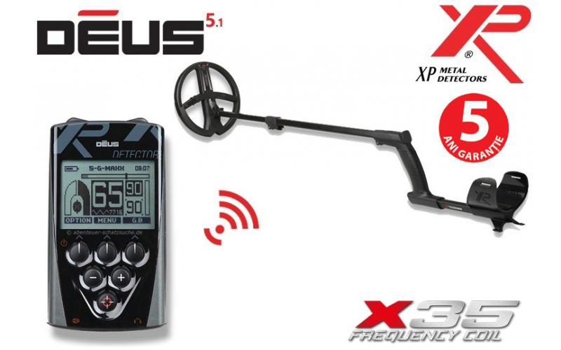 XP Deus v5.1 cu bobina X35 de 22,5 cm si telecomanda