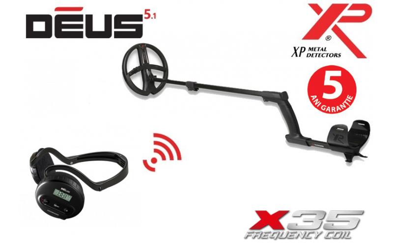 Xp Deus v5.1 cu bobina  X35 de 22,5 cm si casti WS4 (fara telecomanda)