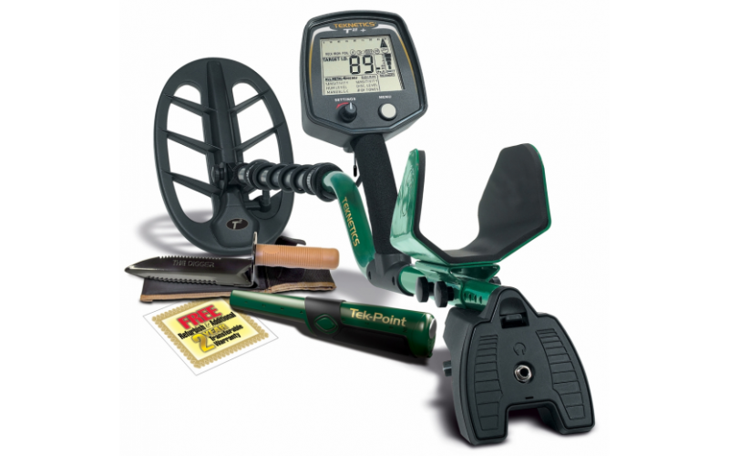 Teknetics T2+ (plus) cu TEK-POINT pinpointer si Lesche digger cadou  si transport gratuit